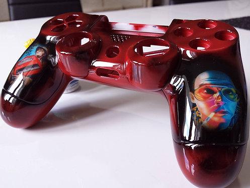 Coque Manette PS4 Custom à l'aérographe !!!