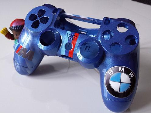 Coque Manette PS4 Custom à l'aérographe !!! Dualshock 4 Sixaxis BMW !