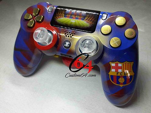 Manette PS4 sony Custom Barcelone + led