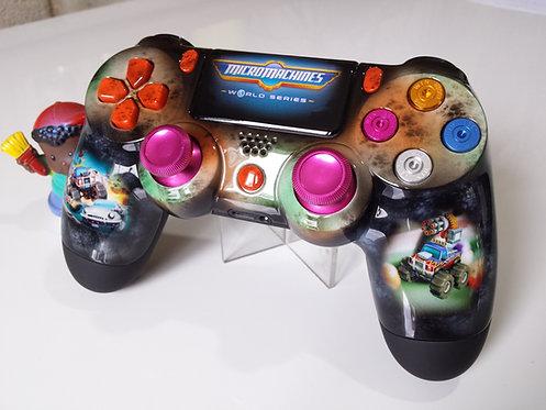 Manette PS4 Custom à l'aérographe !!! Dualshock 4 Sixaxis Micromachines
