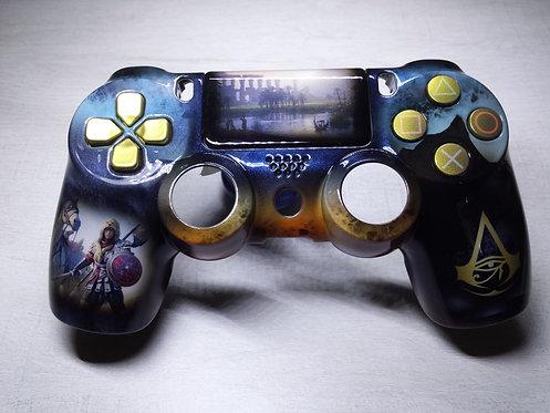 Coque Manette PS4 Custom à l'aérographe !!! Dualshock 4 Sixaxis ! ACO