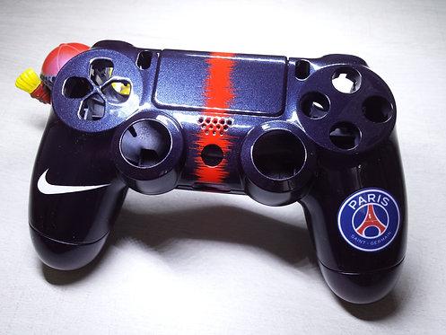 Coque Manette PS4 Custom à l'aérographe !!! Dualshock 4 Sixaxis ! psg