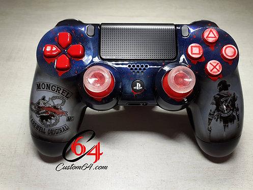 Manette PS4 Custom à l'aérographe Days Gone