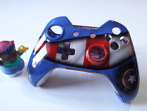 Coque XBOX ONE Custom à l'aérographe !!! Captain America