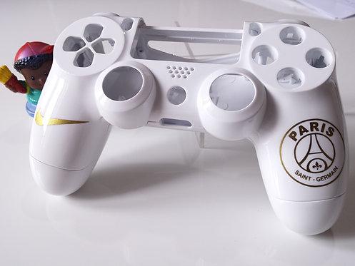 Coque Manette PS4 Custom à l'aérographe !!! Dualshock 4 Sixaxis ! dessin or