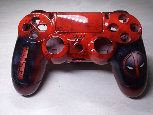 Coque Manette PS4 Custom à l'aérographe !!! Dualshock 4 Sixaxis ! deadpool