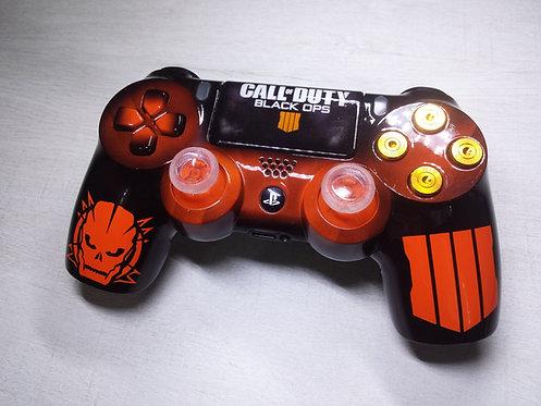 Coque PS4 Custom à l'aérographe !!! Dualshock 4 Sixaxis ! black ops 4
