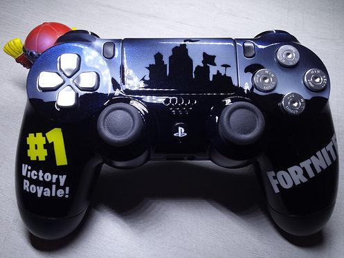 Manette PS4 Custom à l'aérographe !!! Dualshock 4 Sixaxis ! Fortnite