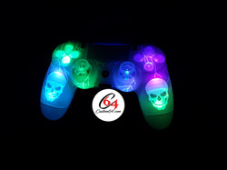 manette ps4 skull led