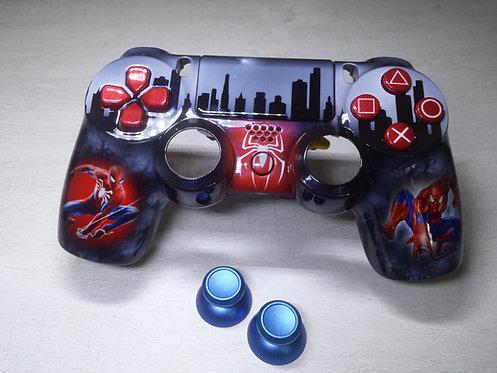 Coque Manette PS4 Custom à l'aérographe !!! Dualshock 4 Sixaxis !Spider