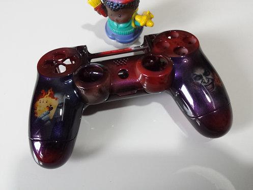 Coque Manette PS4 Custom à l'aérographe !!! Dualshock 4 Sixaxis ! joker