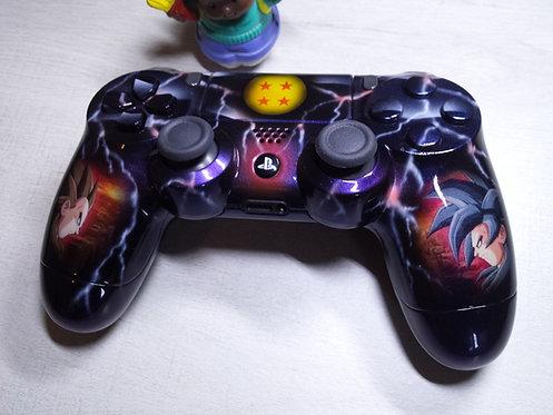 Manette PS4 Custom à l'aérographe !!! Dualshock 4 Sixaxis DBZ