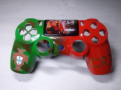 Coque Manette PS4 Custom à l'aérographe !!! Dualshock 4 Sixaxis ! Portugal