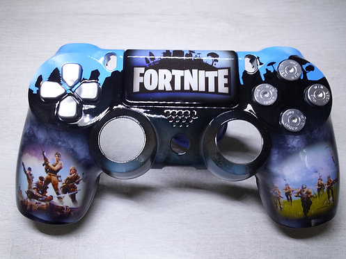 Coque Manette PS4 Custom à l'aérographe !!! Dualshock 4 Sixaxis ! Fortnite
