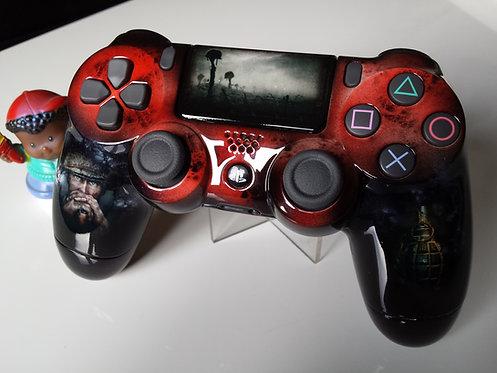 Manette PS4 Custom à l'aérographe !!! Dualshock 4 Sixaxis call of duty