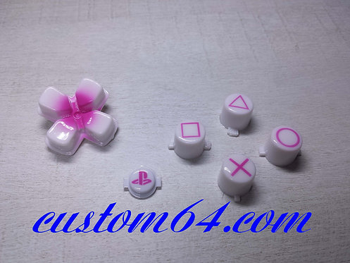 kit Boutons pour manette PS4 rose