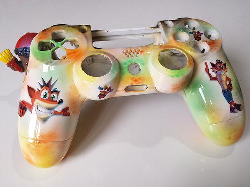 Coque Manette PS4 Custom à l'aérographe !!! Dualshock 4 Sixaxis !