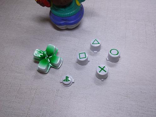 kit Boutons avec dessin des sigles pour manette PS4 peint à l'aérograph