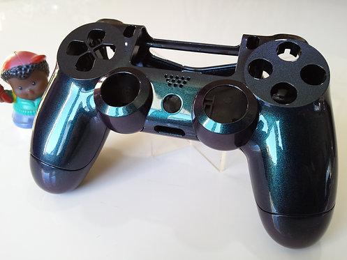 Coque Manette PS4 Custom à l'aérographe !!! Dualshock 4 Sixaxis blue cam !