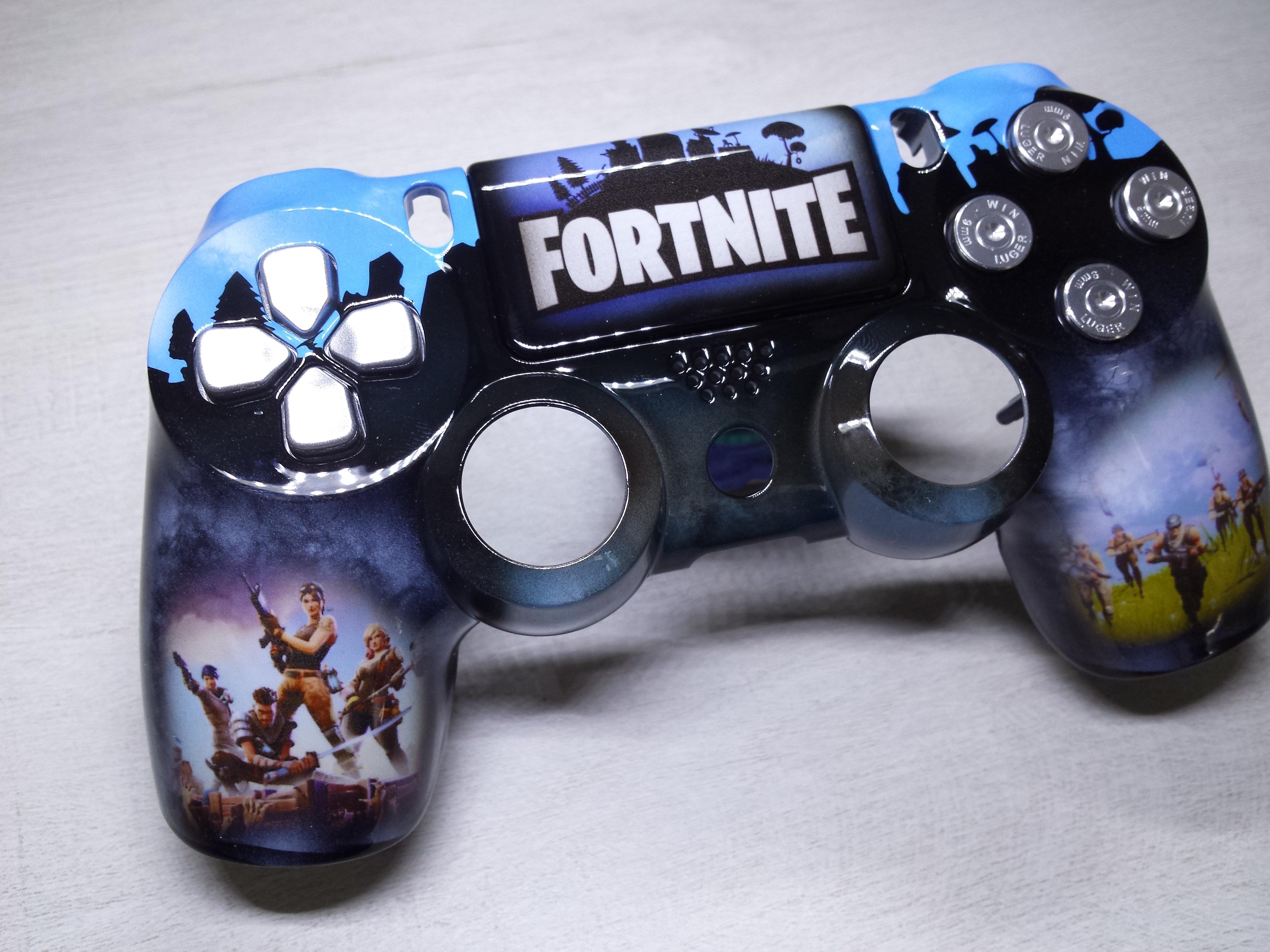check out wholesale sales new images of Coque Manette PS4 Custom à l'aérographe !!! Dualshock 4 Sixaxis ! Fortnite