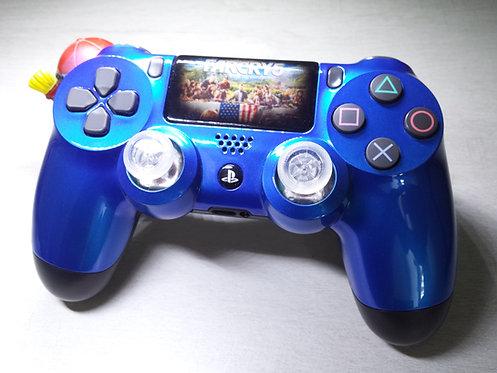 Manette PS4 Custom à l'aérographe !!! Dualshock 4 Sixaxis farcry 5