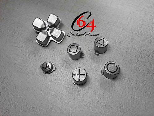 kit Boutons avec dessin des sigles pour manette PS4 peint à l'aérographe !!!