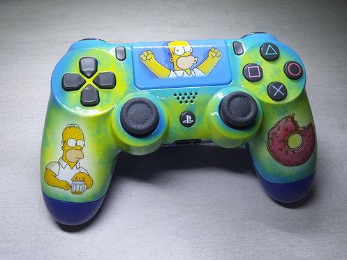 Manette PS4 Custom à l'aérographe !!! Dualshock 4 Sixaxis ! simpson