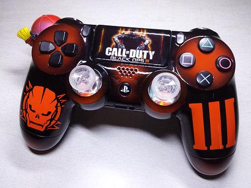 Manette PS4 Custom à l'aérographe !!! Dualshock 4 Sixaxis Black ops 3