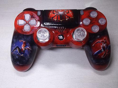 Manette PS4 Custom à l'aérographe !!! Spider-Man