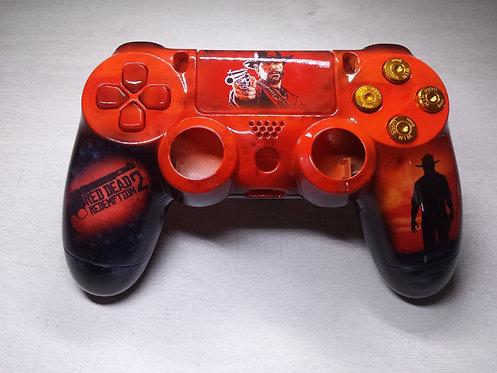 Coque Manette PS4 Custom à l'aérographe !!! Dualshock 4 Sixaxis ! redemption 2
