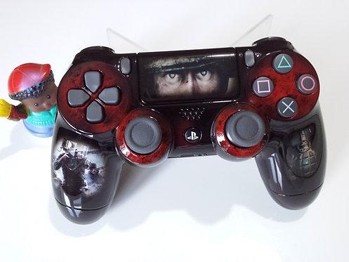 Manette PS4 Custom à l'aérographe !!! Dualshock 4 Sixaxis call of duty ww2