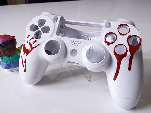 Coque Manette PS4 Custom à l'aérographe !!! Dualshock 4 Sixaxis sanguine !