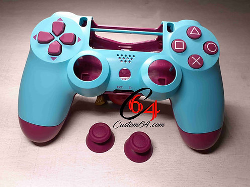 Coque Manette PS4 Berry Blue + boutons