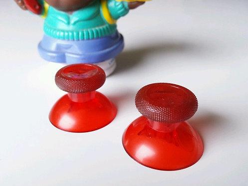2 Joysticks pour PS4 XBOX ONE et PS3 de couleurs transparente rouge neuf