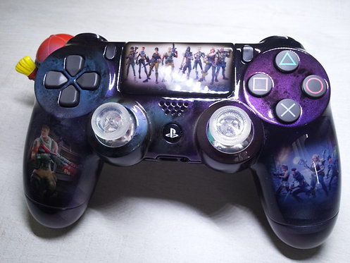 Manette PS4 Custom à l'aérographe !!! Dualshock 4 Sixaxis ! Fortnite