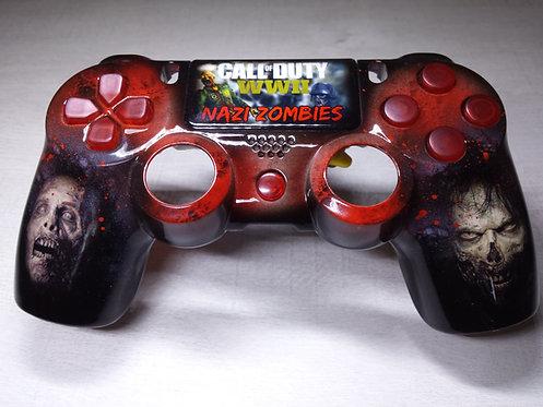 Coque Manette PS4 Custom à l'aérographe !!! Dualshock 4 Sixaxis ! zombies
