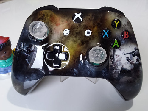 Manette XBOX ONE Custom à l'aérographe !!!  Rainbow six siege