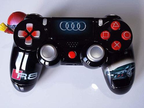 Manette PS4 Custom à l'aérographe !!! Dualshock 4 Sixaxis Audi