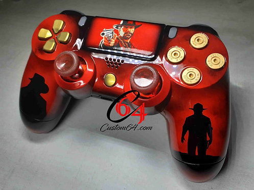 Manette PS4 Custom red dead redemption 2