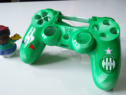Coque Manette PS4 Custom St Etienne
