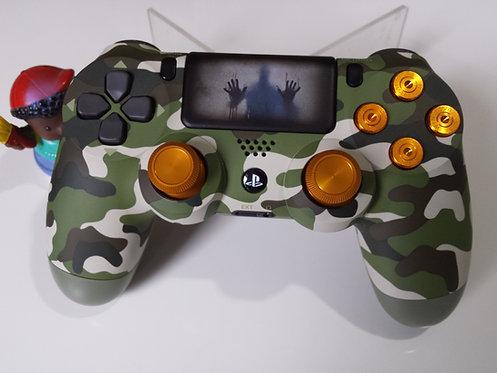 Manette PS4 Custom à l'aérographe !!! Dualshock 4 Sixaxis camouflage