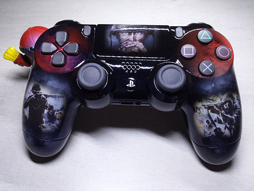 Manette PS4 Custom à l'aérographe !!! Dualshock 4 Sixaxis WW2