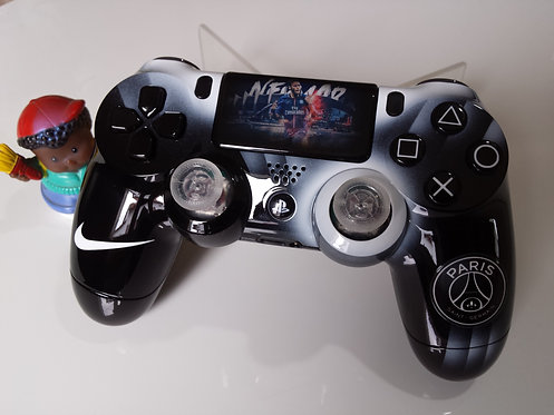 Manette PS4 Custom à l'aérographe !!! Dualshock 4 Sixaxis psg Neymar