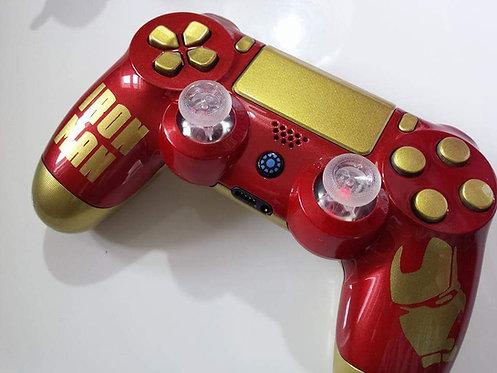 Manette PS4 Custom à l'aérographe !!! Dualshock 4 Sixaxis Iron Man