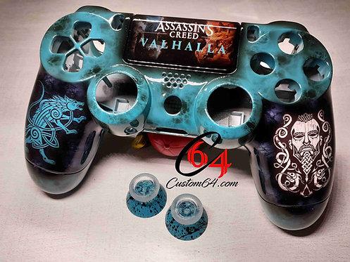 Coque Manette PS4 Custom Assassin's creed Valhalla