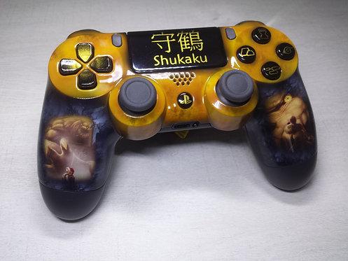Manette PS4 Custom à l'aérographe !!! Dualshock 4 Sixaxis ! Shukaku