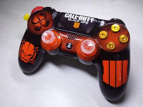 Manette PS4 Custom à l'aérographe !!! Dualshock 4 Sixaxis black ops 4