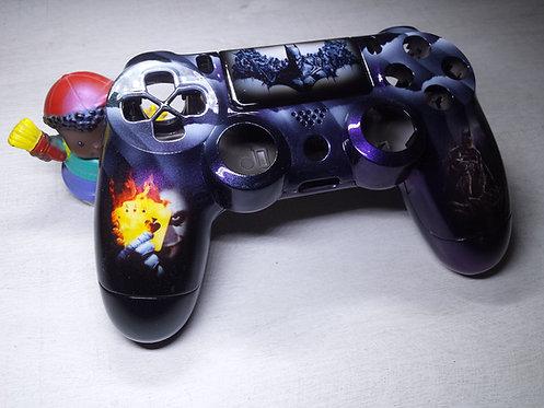 Coque Manette PS4 Custom à l'aérographe !!! Dualshock 4 Sixaxis ! batman