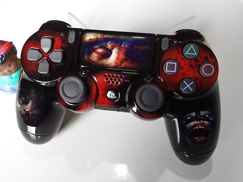 Manette PS4 Custom à l'aérographe !!! Dualshock 4 Sixaxis zombies