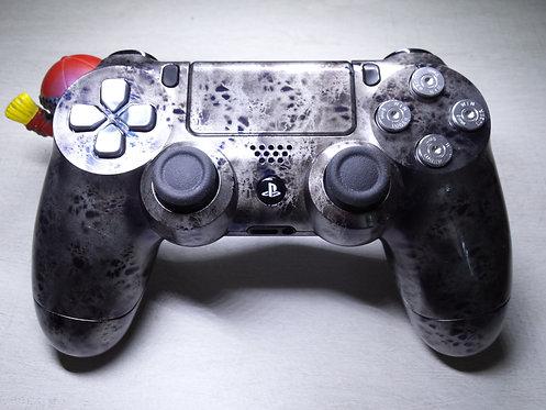 Manette PS4 Custom à l'aérographe !!! Dualshock 4 Sixaxis silver blue